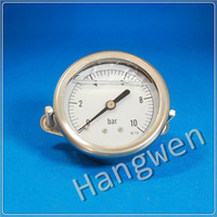 stainless steel liquid filled pressure gauge U clamp manometer