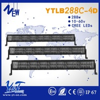 Car tuning parts 4d led light bar roof light 288w 50 inch