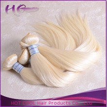 Best quality #613 blonde hair weft raw unprocessed virgin human hair extension for white people