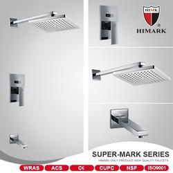 Wall mounted square rain shower European shower faucet