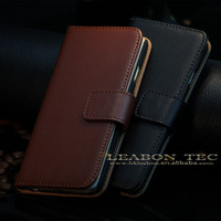 2015 Hot sell wallet flip genuine leather cases for apple iphone 6 6s