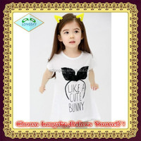 New 2015 Baby Girls Girl T Shirt Kids Summer Short Sleeve T-shirt Children Girl's T Shirt