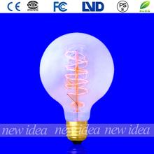 spiral filament bulb, vintage light lamp bulb G95 25W/40W/60W hot sale
