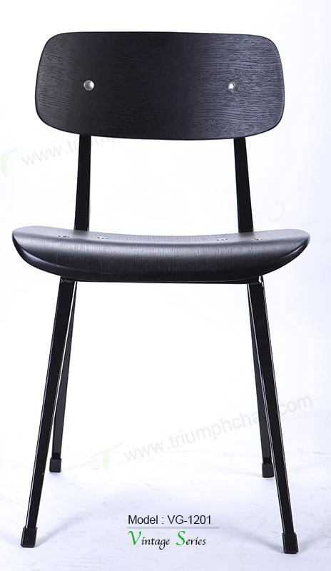 triumph vintage black metal dining chair industrial metal cafe chair