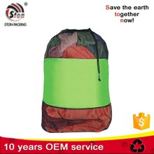Extra Large Customized Nylon Polyester mixed mesh Drawstring Dirty Laundry Cleaner Bags