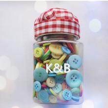 Christas decorations, DIY colourful assorted shape craft button for gifts, kids handicraft making
