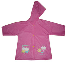 PV06 PVC waterproof red kids rainwear for kids
