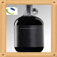 Item HSB07 high quality name for branded wine bottle for vodka ,whisky 1 liter glass bottle