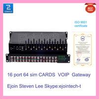 Ejoin 16 port 64 sim cards GSM gateway support VPN MNP router, remote router server equipment