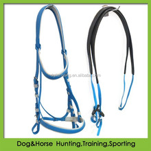 NEW PVC LIGHT BLUE Hanoverian Event Bridle & Reins size FULL