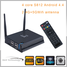 4K Android tv box Android 5.1 xbmc box amlogic S812 quad core Manufactures Price External Wifi Antenna quad coreII Smart TV Box