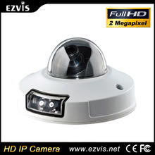 New 2MP 1080p H.264 Poe microphone sim card onvif free P2P mobile viewing dome mini ip camera