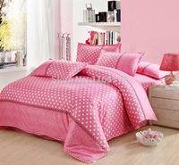 Hot sales art bed linen sheetBedding set with Pink color, Full, Queen, King size /4 pcs/bedclothes/, high quality, Free shipping