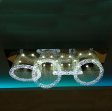 LED K9 crystal chandelier pendant light for hotel lobby project and villa with customized service