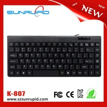 Factory direct sales 88 key keyboard, US/Korean/Japanese layout mini wired usb keyboard