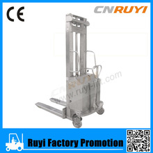 Peru stainless steel semi- electric hydraulic pallet stacker promotion