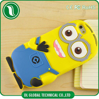 china wholesale 3d design phone case Cartoon Soft Despicable Me Minions silicon cover for iphone 6