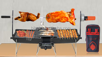 Outdoor picnic stainless steel charcoal BBQ grill with foldable legs