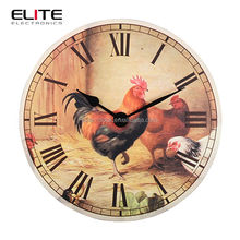 13.5 inch MDF quartz giant wall clock with cock dial