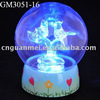 christmas led glass ball with plastic base and music inside