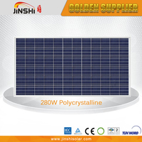 280w good quality and cheap price solar power panels for commercial use with A grade solar cell