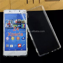 For Sony Case, Premium Flexible Soft TPU Gel Silicone Slim Back Cover Smartphone bag For Sony Xperia Z4 [Crystal Clear]