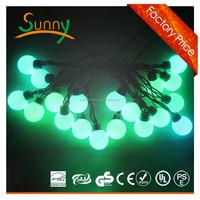 LED ball string light for decoration of shrubs patio trees