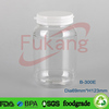 alibaba clear PET plastic softgel bottles with tear-off cap, 300cc medicine capsule container wholesale made in China supplier