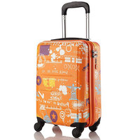 2015 fashionable trolley bags/ABS PC suitcases travel luggage case