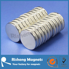 N45 D20 x 2 mm with spacer neodymium monopole magnet for sale