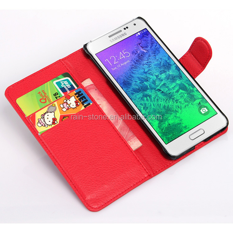 Case Design western leather cell phone cases : ... leather cellphone case for Samsung Galaxy Alpha G850F, mobile phone