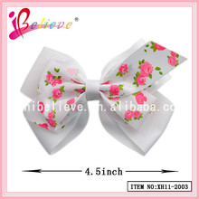 America hot selling hair bow pre made satin ribbon bow,satin ribbon bow tie with clip