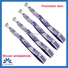 Promotional gifts 2015 new style fabric textile bracelet