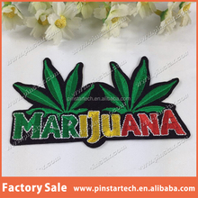 2015 Alibaba China supplier wholesale cheap high quality leaf iron on embroidery patch quality appliques garment accessories