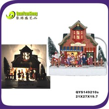 best selling led light resin family christmas gift decoration