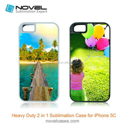Dual Protective sublimation 2in1 phone case for iPhone 5C