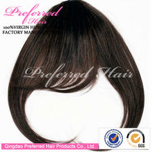 China Professional Manufacturer 3~5 Inches 1B# Natural Color 100% Brazilian Human Hair Bangs In Stock For Christmas Hottest Sale