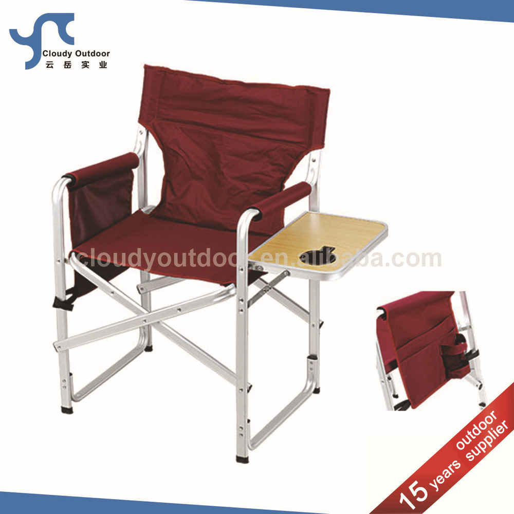 Camping Aluminium Folding Director Chair With Side Table