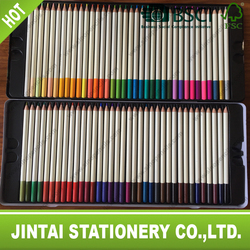 FSC certificated colour pencil with color top 72 colours pencil packing in tin box with logo