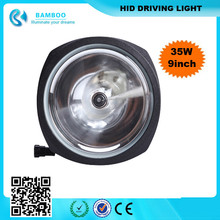 "China source 9"" 35w/55w/75w spot Beam HID xenon lamp headlighting off road hid driving light for SUV ATV JEEP MOTO"