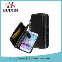 TPU+PU leather flip wallet bag pouch case cover for samsung galaxy s6