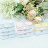 Factory outlet Contact Lens Case, contact lens double box, 3D cookie double colors contact lens case