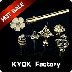 KYOK Electroplated AB/AC hollow metal curtain rod factory ,wrought iron curtain rods wholesale