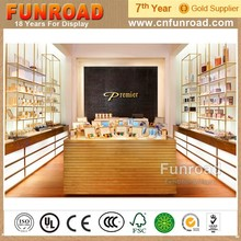 Wood Panel Frame Cosmetics Display Rack for Premier Skin Care Products