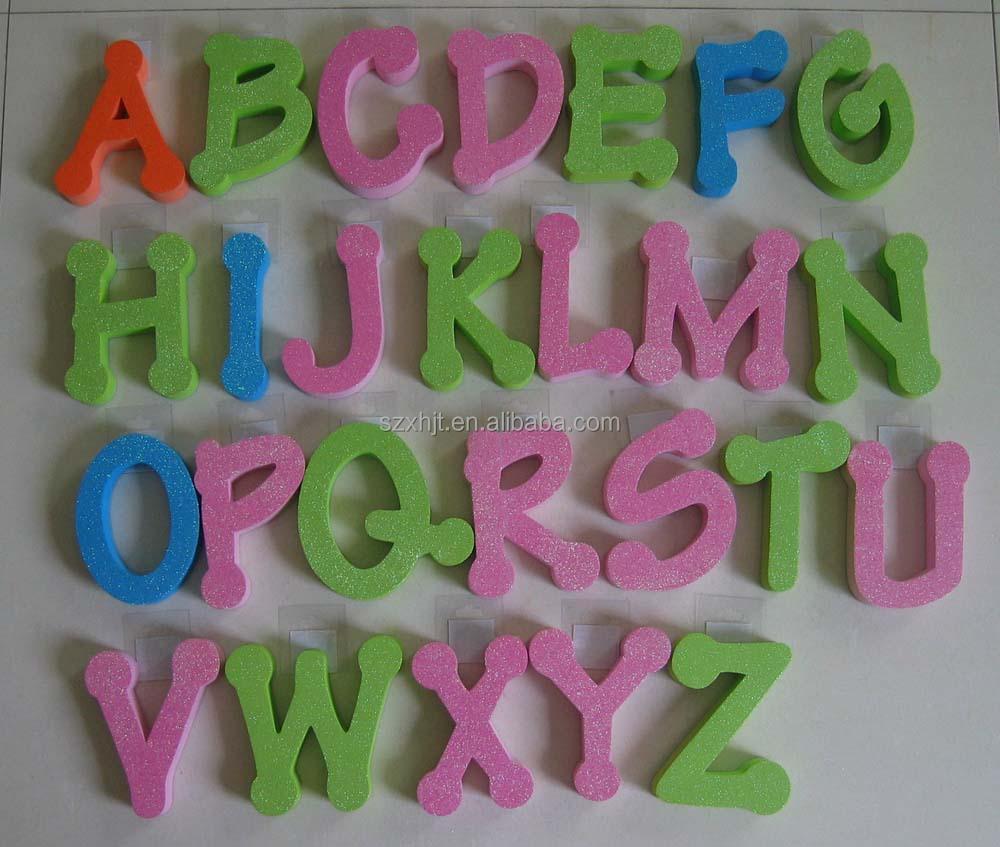Foam Letters Wall Decor : Decorative alphabet letters view