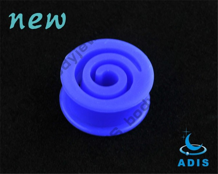 Custom Jewelry China Special Style Blue Sillion Ear Flesh Tunnel  (2)