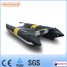 hot(CE)14ft inflatable power catamaran boat rescue boat