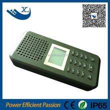 La caza de control remoto mp3 de codorniz llamada telefónica 150 sonidos de aves de llamadas para la caza con 20 w altavoz