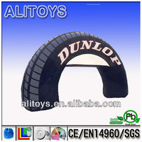 inflatable tire arch/inflatable open arch for advertisement