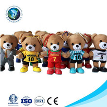 Colorful wholesale plush stuffed mini teddy bear for bouquet plush bear keychain